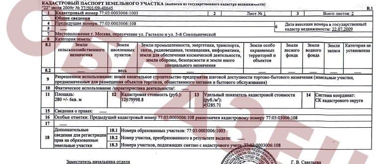 Ошибка в кадастровом паспорте на земельный участок
