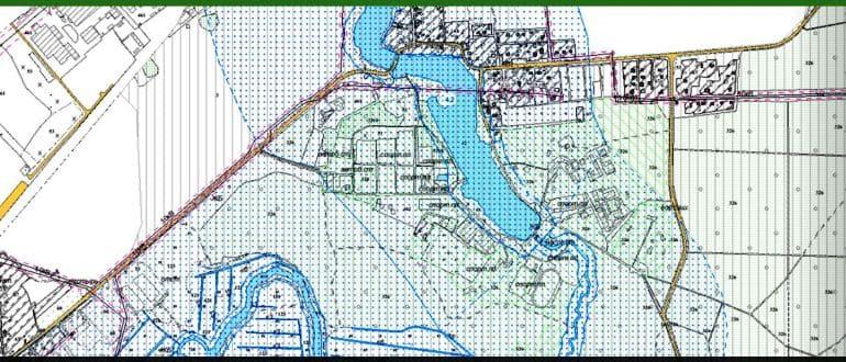 Наложение границ земельных участков на кадастровой карте