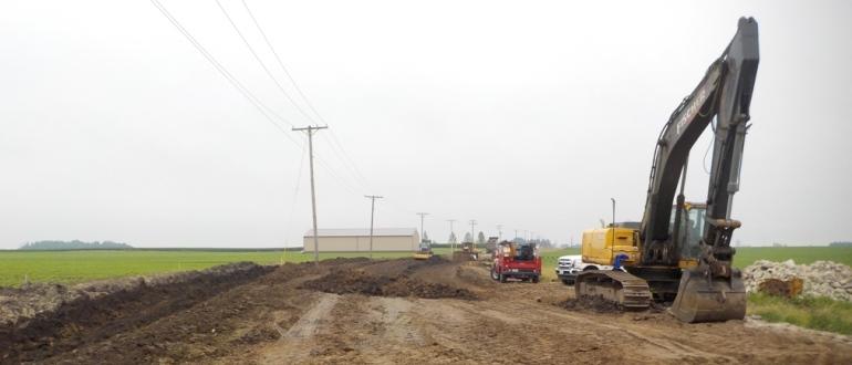 Строительство съезда с дороги на земельный участок